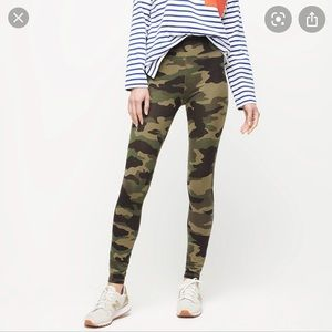 J. Crew Knit Goods Camo leggings- large